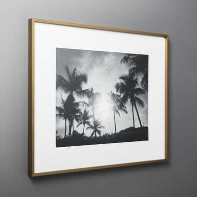 Gallery Brass Frame with White Mat 16x20 - CB2