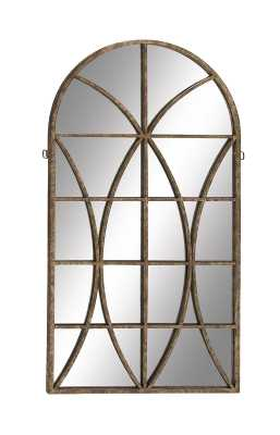 Metal and Wood Wall Mirror - Wayfair