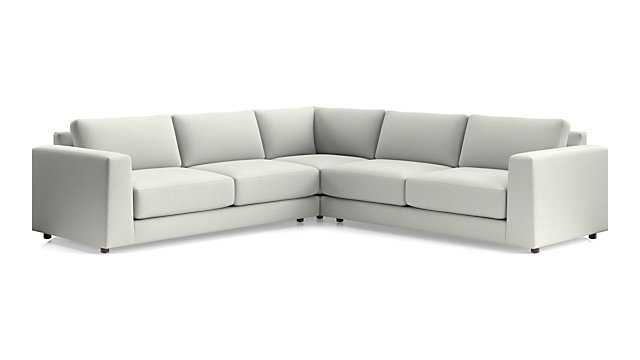 Peyton 3-Piece Sectional - Macey, Ash - Crate and Barrel