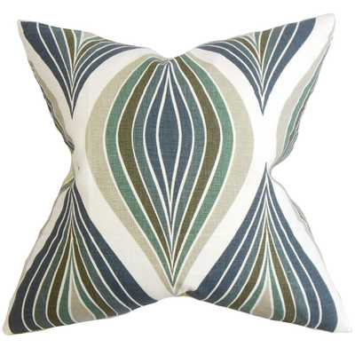 Carlow Geometric Pillow Blue-Pillow Cover Only - Linen & Seam