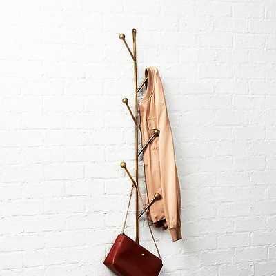 barker vertical wall mounted coat rack - CB2