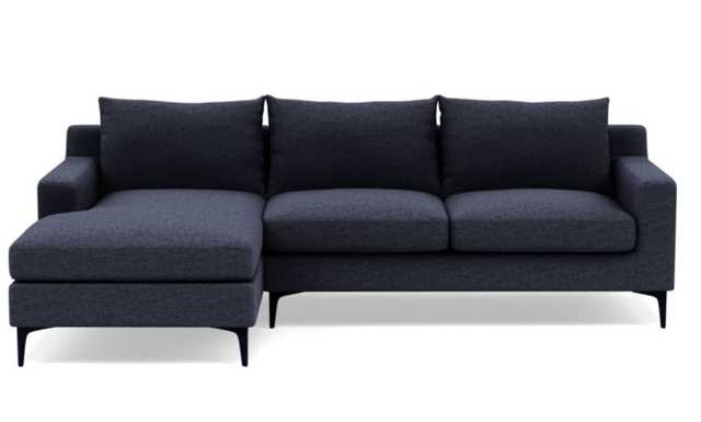 SLOAN Sectional Sofa with Left Chaise,Matte Black Sloan L Leg - Interior Define