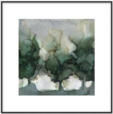 "River Trees - 24"" x 24"" - matte black metal frame w/ mat - Artfully Walls"