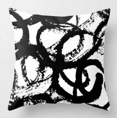 Dance Black and White Throw Pillow/ indoor with pillow insert - Society6