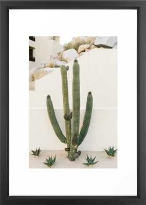 "Cabo Cactus X - 15"" x 21"" - vector black - Society6"