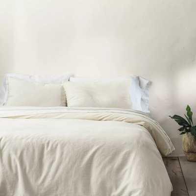 Heavyweight Linen Blend Duvet & Pillow Sham Set - a™ Natural - Target