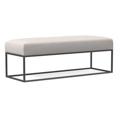 Box Frame Upholstered Bench, Wheat, Twill - West Elm