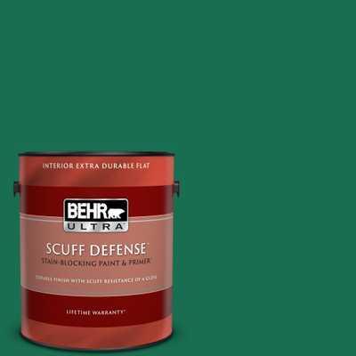 BEHR ULTRA 1 qt. #S-H-470 Precious Emerald Matt Enamel Interior Paint and Primer in One - Home Depot