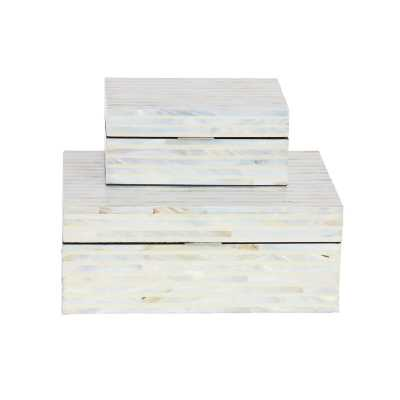 Mailloux Wood Mop 2 Piece Decorative Box Set - Wayfair