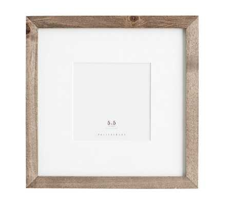 Wood Gallery Single Opening Frame, 5 x 5 - Gray - Pottery Barn