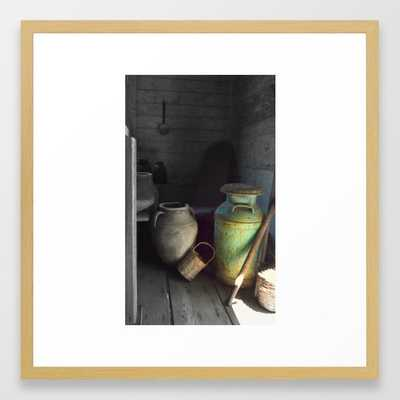 Farm still life I Framed Art Print, 22x22 - frame conservation natural - Society6
