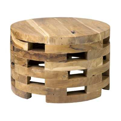 Bandla Solid Wood Drum Coffee Table - Wayfair