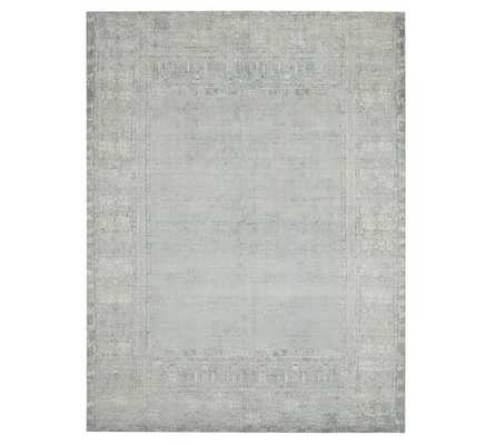Kailee Printed Wool Rug, 9x12', Porcelain Blue - Pottery Barn
