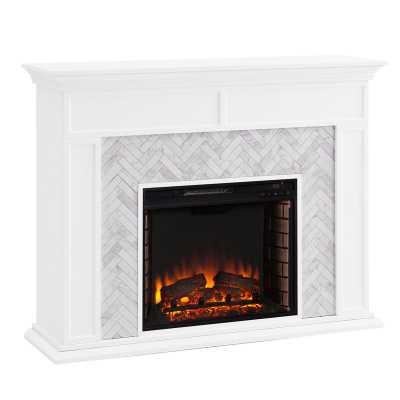 Torlington Color Changing Marble Tiled Fireplace - Wayfair