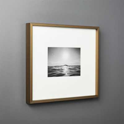 Gallery Brass Frame with White Mat 5x7 - CB2