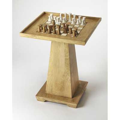 """Natural 22"""" Schauer Chess Table - Wayfair"""