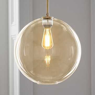 Sculptural Glass Shade, Large Globe, Champagne - West Elm