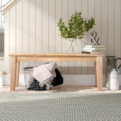 Lynn Wooden Entryway Bench - Wayfair