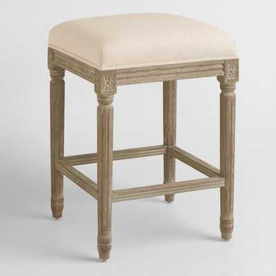 Natural Linen Paige Backless Counter Stool by World Market - World Market/Cost Plus