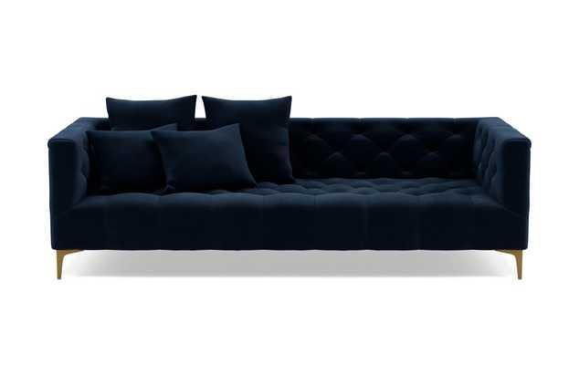 MS. CHESTERFIELD Fabric Sofa - Navy Performance Velvet - Interior Define