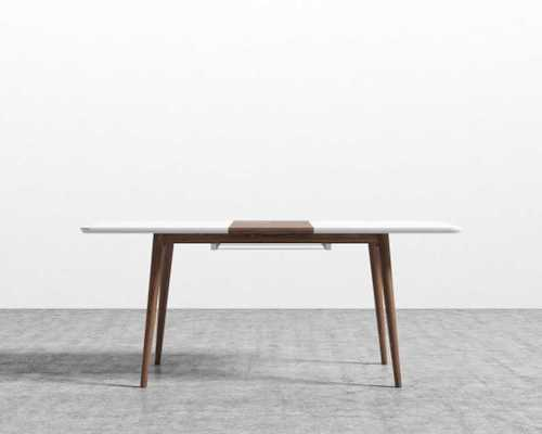 Marcus Dining Table - Walnut Veneer, White Ash, Wood - Rove Concepts