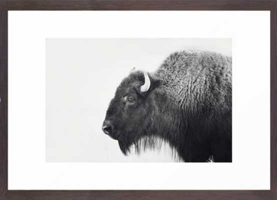 Buffalo Photograph in Black and White Framed Art Print - Society6