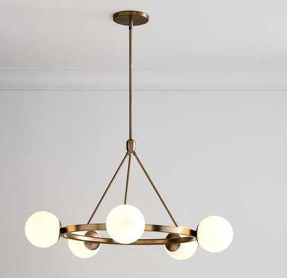 Hayes 5 Lights Chandelier, Light Bronze - West Elm
