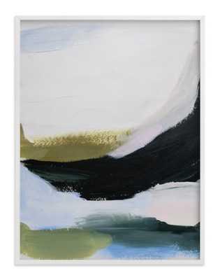 "Elemental layers FRAMED ART PRINT- 30"" X 40"" - White Wood Frame- Standard Plexi & Materials- Standard - Full Bleed - Minted"