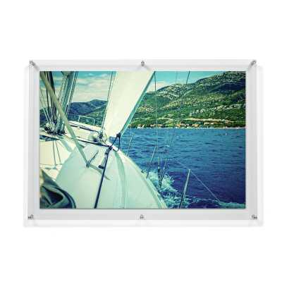 """Double Panel Floating Acrylic Picture Frame - 24"""" x 36"""" - Wayfair"""