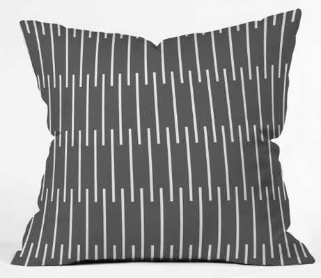 meridian  grey  Throw Pillow - insert included 18 x 18 - Wander Print Co.