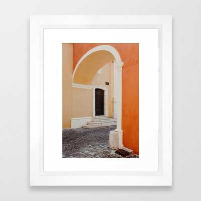 Colors of the South of France - Côte d'Azur photo print | Pastel travel photography art print Framed Art Print - Society6