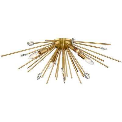 "Possini Euro Janae 29"" Wide Antique Gold Ceiling Light - Lamps Plus"