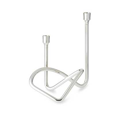 Sculptural Candleholder, Polished Nickel - Williams Sonoma Home