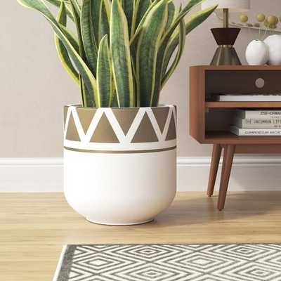 Charnley Handcrafted Fiber Clay Pot Planter - Wayfair