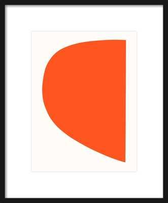 Red Form by Emma Lawrenson   Thin black wood frame - Artfully Walls