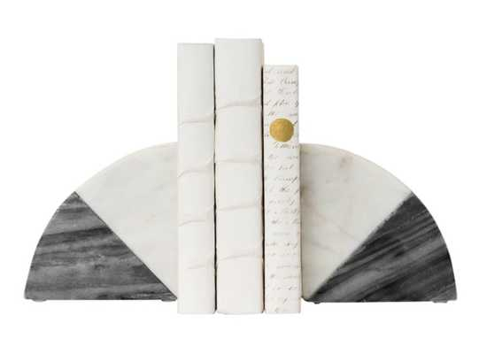 DUOTONE MARBLE BOOKENDS (SET OF 2) - McGee & Co.