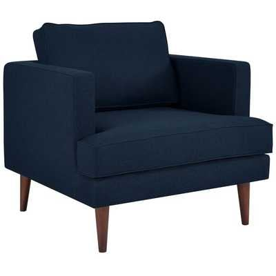 AGILE UPHOLSTERED FABRIC ARMCHAIR IN BLUE - Modway Furniture