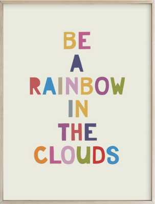 Rainbow in a Cloud - 30x40 - Natural Raw Wood Frame - standard - Minted