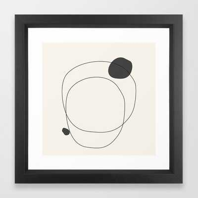 Abstract line art 79 Framed Art Print - Society6