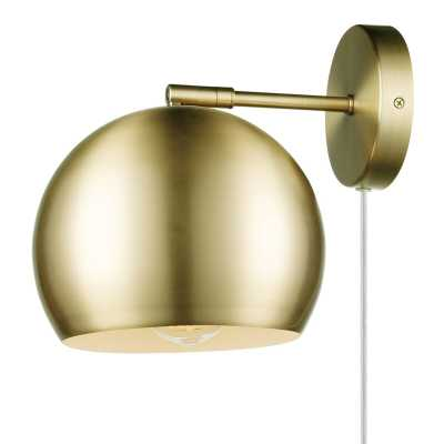 X Globe Plug-in 1-Light Armed Sconce - Wayfair