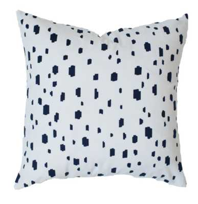 """Navy Spotted Pillow  - 20""""x20"""" - Insert Not Included - Caitlin Wilson"""
