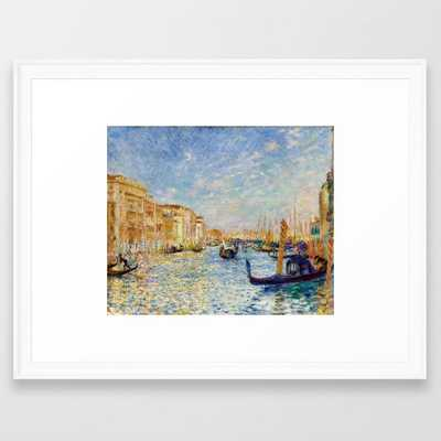 "Auguste Renoir ""Grand Canal, Venice"" Framed Art Print, scoop white, 20x26"" - Society6"