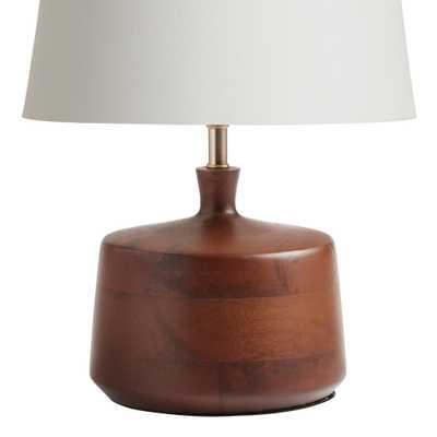 Walnut Wood Taylor Accent Lamp Base - World Market/Cost Plus