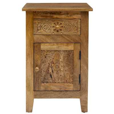 Callimont Solid Wood End Table with Storage - Wayfair