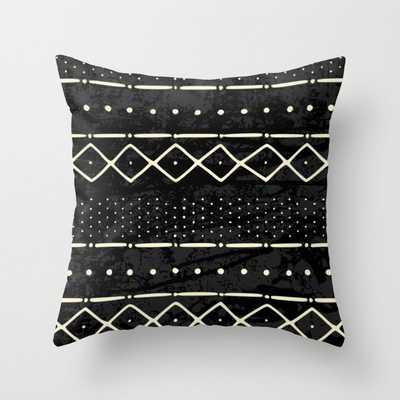 Mud cloth geometry Throw Pillow - with Insert - Society6