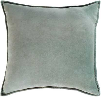 "Cotton Velvet - CV-021 - 18"" x 18"" - with poly insert - Neva Home"
