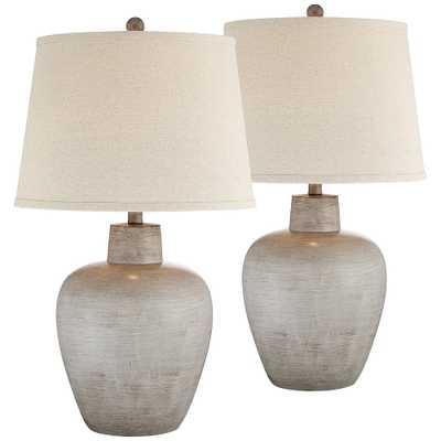 Glenn Southwest Urn Table Lamps Set of 2 - Style # 69H77 - Lamps Plus