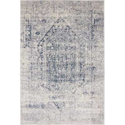 Abbeville Gray/Navy Blue Area Rug 6x9 - Wayfair