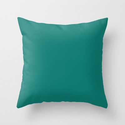 Teal Fresh | 0d796f Throw Pillow - Society6
