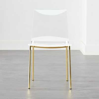 Chiaro Clear Chair Gold - CB2